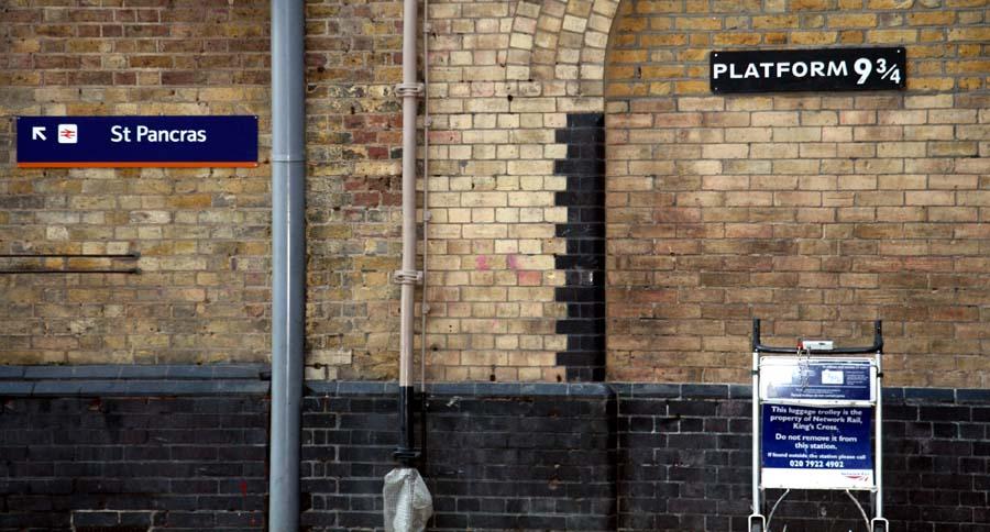 El carrito de Harry Potter en en anden 9 y 3/4 de King Cross