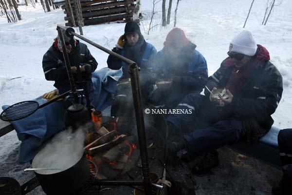 Comida en el hielo en Finlandia