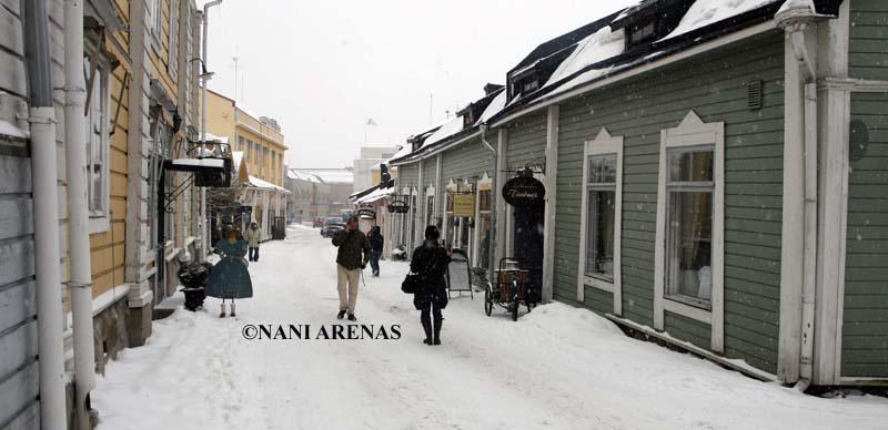 Paseo por el centro de Porvoo, cerca de Helsinki