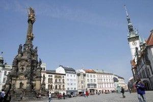 Olomouc columna y plaza