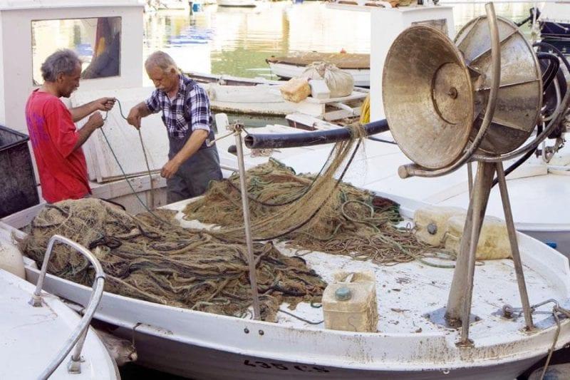 Actividad pesquera en Cres
