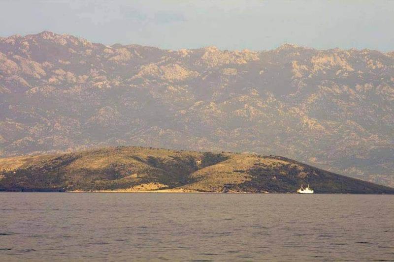 Paisaje desde el barco de la bahía