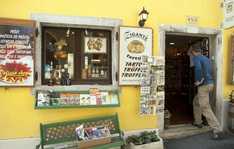 Tienda de productos gastronómicos en Istria