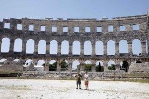 """El anfiteatro, también llamado """"Pula Arena"""""""
