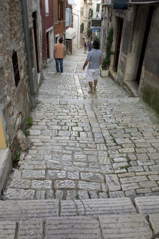 Calles adoquinadas de Rovinj