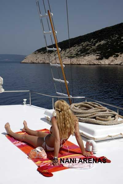 Navegando en velero por la costa de Croacia