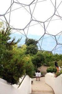 Interior de una de las burbujas del Eden Project