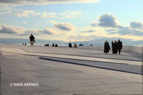 La nueva ópera de Oslo noches blancas