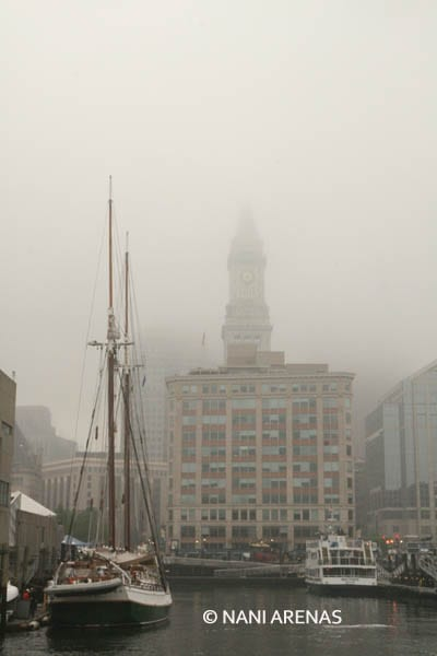 Boston con niebla