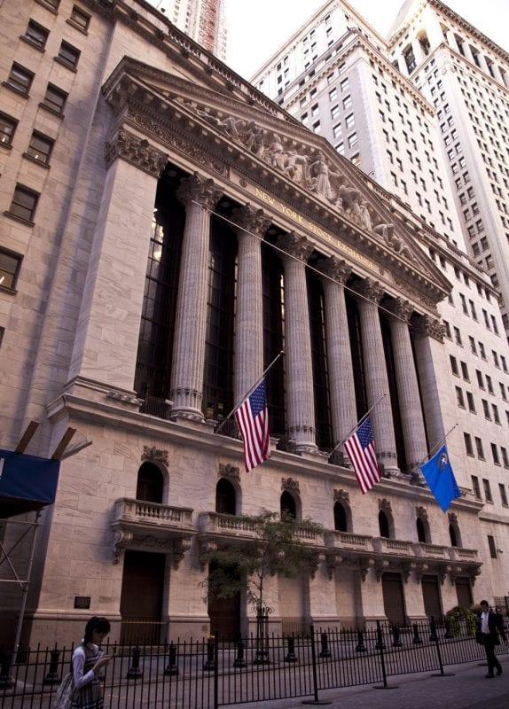 El edifico de la bolsa, una referencia en el distrito financiero de Nueva York