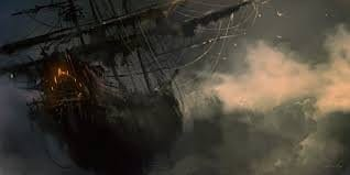 Imagen del fantasmal Flying Dutchman