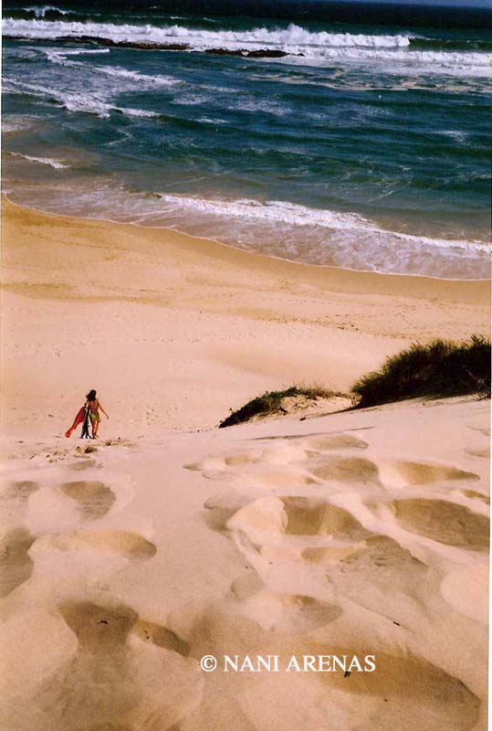 Playa paradisiaca en la Garden Route en Sudáfrica