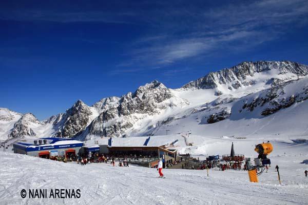 esquí en en glaciar de Stubai