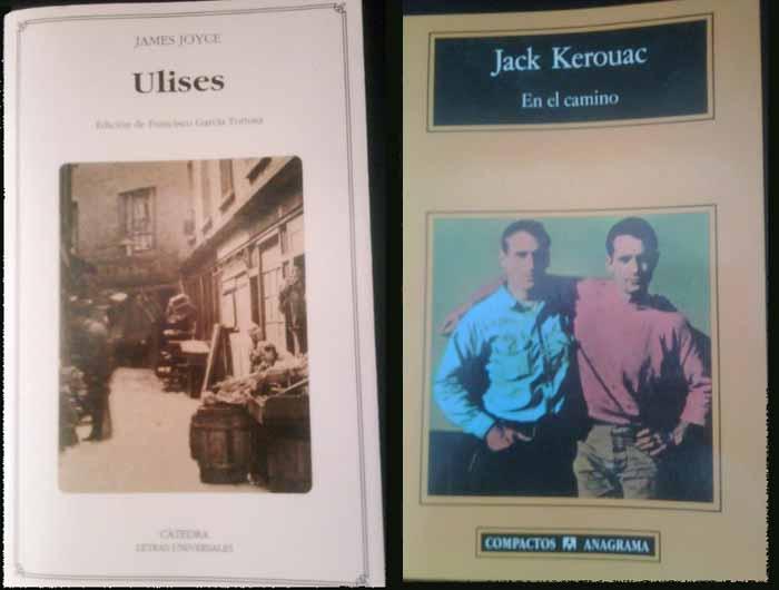 Portadas del Ulises y El Camino de Kerouac