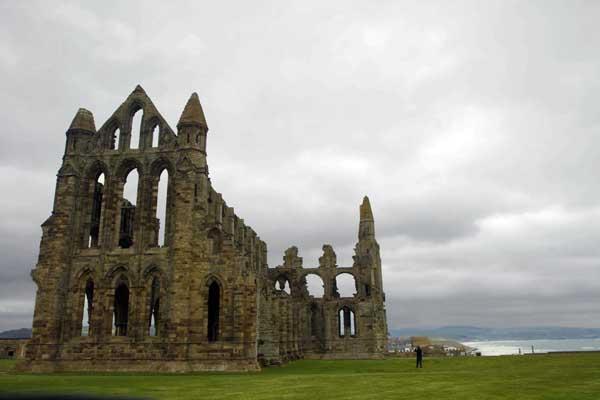 Las ruinas de la abadía de Santa María de Whitby