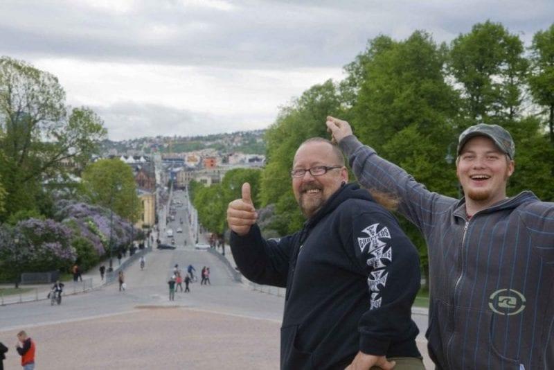 En Oslo el día de su fiesta se respira buen ambiente