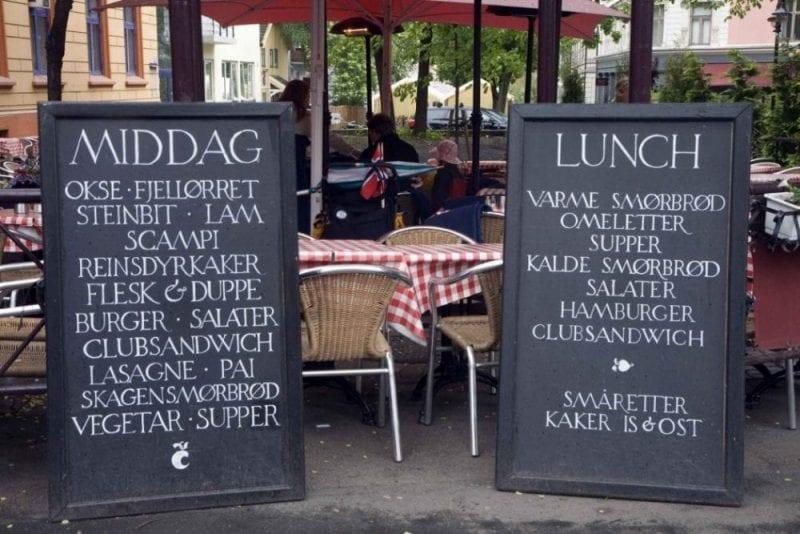 Menu especial del día de Noruega