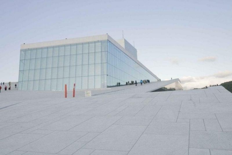 Vista panorámica de la ópera de Oslo
