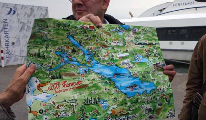 Mapa del lago Constanza