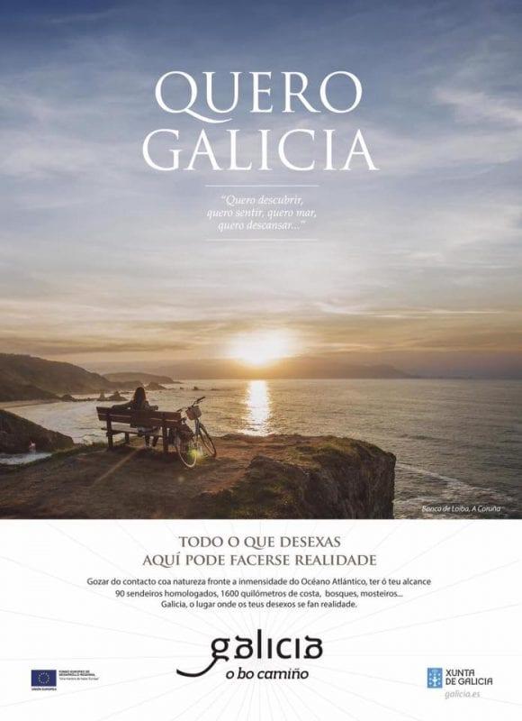 Imagen promocional de Galicia con el banco de Loiba como protagonista