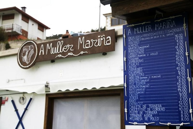 A Muller Mariña es buen lugar donde comer en Bares