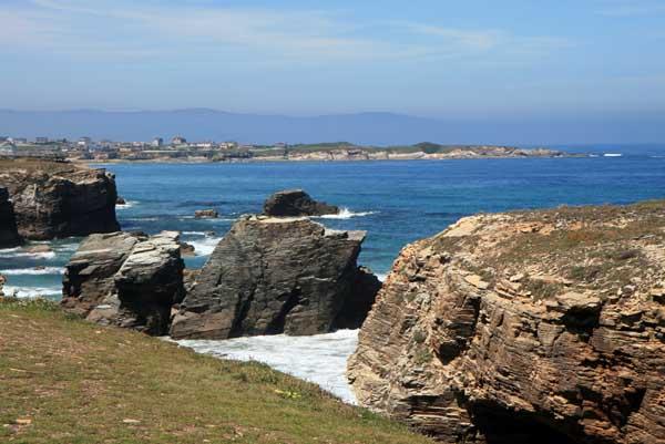 Panorámica de la costa de Lugo desde la playa de las Catedrales