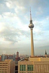 Mítica torre de la TV, cerca de Alexander Platz