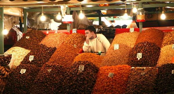 Marrakech plaza Jemaa especias la viajera blog