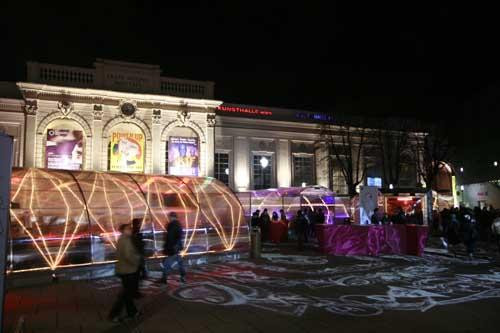 Mercadillo de Navidad en el MQ de Viena