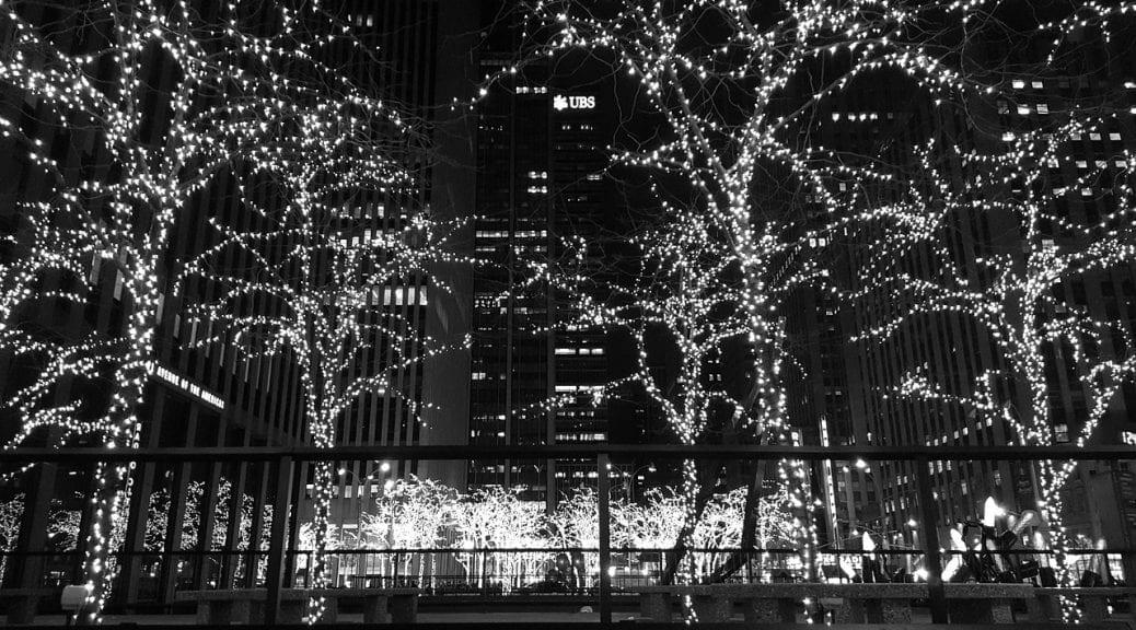 Nueva York con luces navideñas