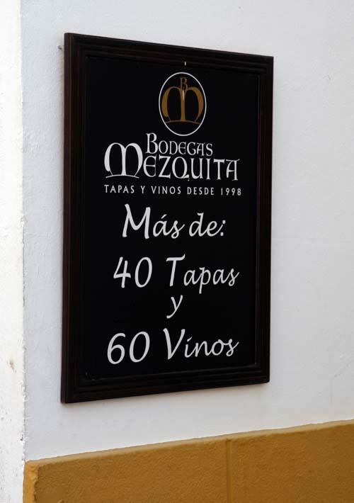 Bodegas Mezquita, vinos y tapas en Córdoba