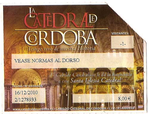 Entrada a la mezquita de Córdoba