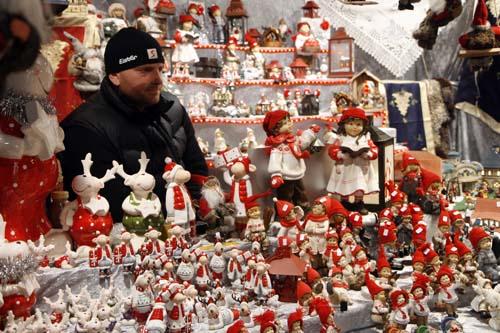 Puesto de figuritas navidad en Viena