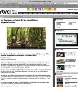 La viajera empedernida en la TV Canaria