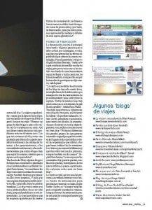 Reportaje sobre bloggers de viajes publicado en la revista Amadeus en marzo del 2011