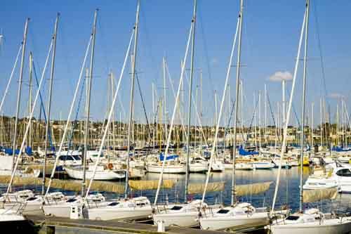 El puerto deportivo de Brest