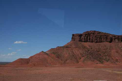 paisaje desertico de la Patagonia