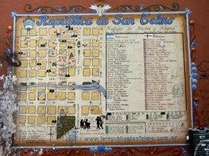 Plano del barrio de San Telmo en Buenos Aires