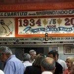 Una pizza con Evita Perón en la Recoleta de Buenos Aires