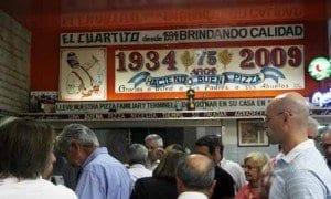 Buenos Aires pizzeria El cuartito cartel