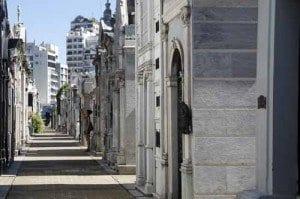 cementerio la recoleta en Buenos Aires