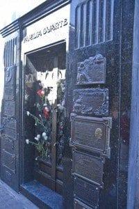 Buenos Aires cementerio la recoleta tumba Evita Perón