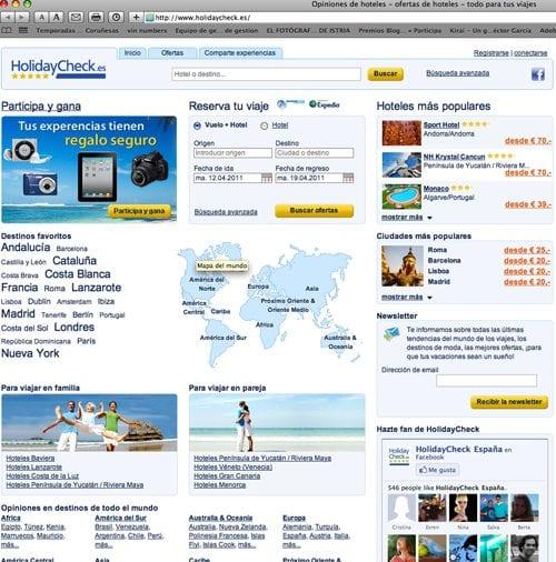 Web de HolidayCheck