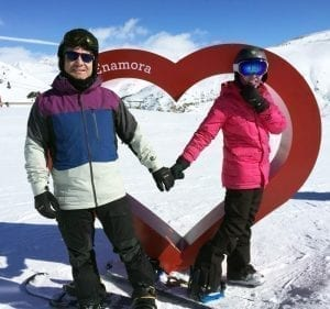 Pareja de enamorados en el corazón, el mejor recuerdo de Cerler