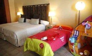 Habitación familiar en el hotel Hesperia Lanzarote