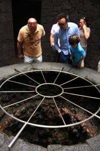 Parrilla del restaurante el Diablo, en Timanfaya