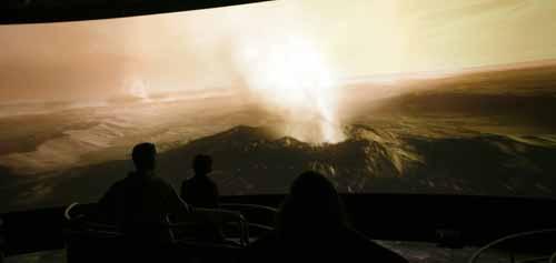 Simulación del la erupción del volcán Toba