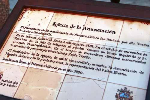 Alba de Tormes Avila iglesia anunciacion