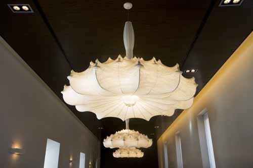 Alcala de Henares Parador detalle lamparas comedor