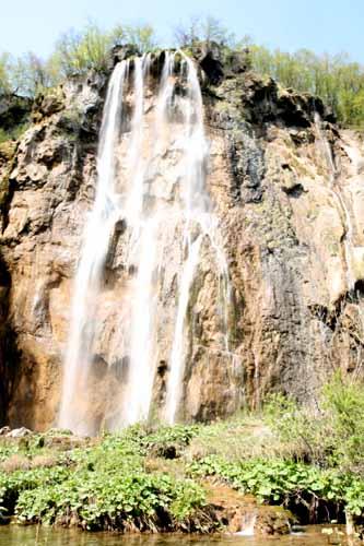la gran caída de Slap, en Plitvice